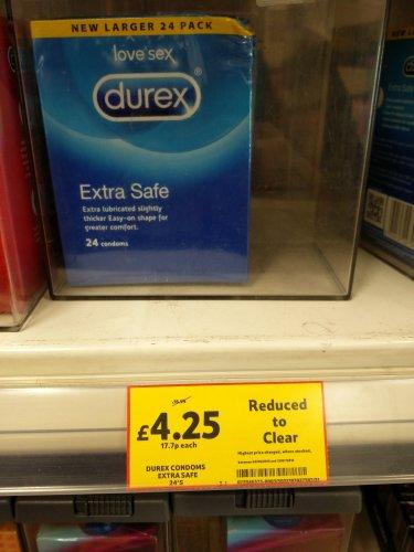 Tesco ... 24 Durex Extra Safe £4.25