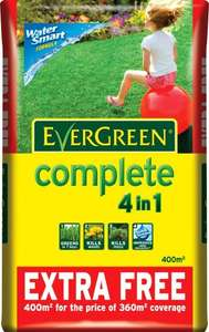 EverGreen Complete 400 sq m Lawn Food, Weed and Moss Killer Bag £16.66 @ Wickes