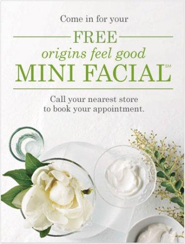 Free mini facial @ Origins