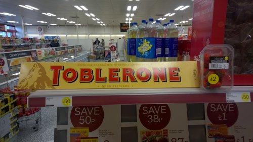 TOBLERONE 4.5kg  bar £50 @ Iceland