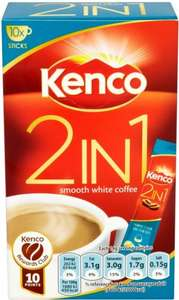 Kenco 2 in 1 Smooth White Coffee / 3 in 1 with sugar (10) was £2.19 now £1.50  (Rollback Deal) @ Asda