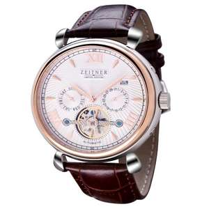 Mens Zeitner Limited Edition Autodate Stylish Automatic Watch White Rose RRP £645 - £89.99 Sold by Fashion Brands Online and Fulfilled by Amazon.