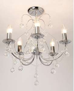 Sapparia 5 Light Flush Chandelier was £120 now £38 with codes + free postage @ BHS