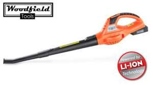 Woodfield™ Cordless Rechargeable Leaf Blower with Li-Ion Battery £29.99 + £4.99 next day delivery = £34.98 @ Primrose