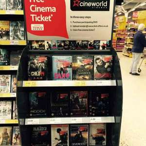 "DVD & ""free"" Cineworld Cinema Ticket £5 from Tesco instore"