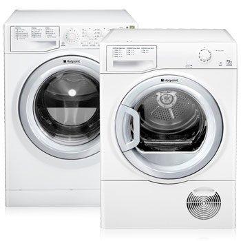 Hotpoint 7kg washing machine AND 7.5kg condenser dryer; £379.99 delivered @ Costco