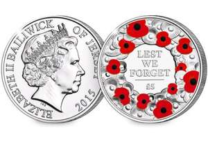 £5 poppy coin for £5 pound with FREE postage and 50p donation to charity