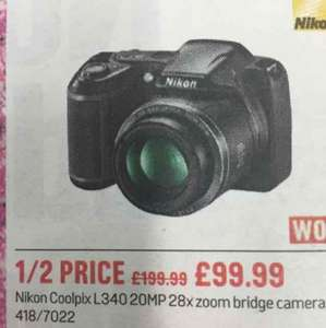 Nikon Coolpix L340 20MP 28x zoom. £99.99 @ Argos