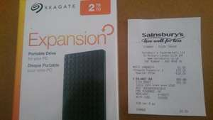 Seagate Expansion 2TB USB 3.0 Portable 2.5 inch External Hard Drive £50.00 @ Sainsbury's Instore (Tollgate) may be national