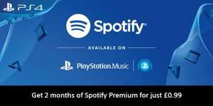 2 months of Spotify Premium - 99p - PlayStation Music (New Accounts?)