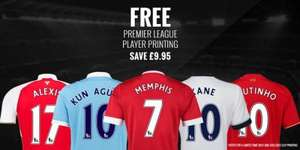 Free Premier League Shirt Printing (worth £9.95) @ Kitbag