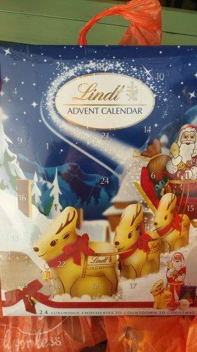 Lindt advent calendar  £2.50 from tesco