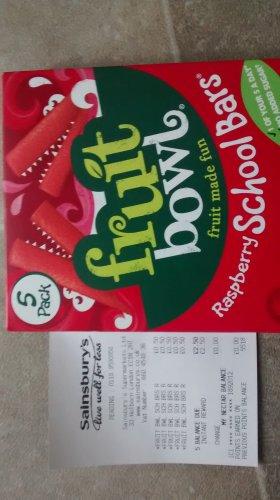 fruit bowl raspberry school bars 50p @ sainsburys instore