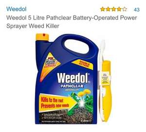 £10.34 Weedol 5 Litre Pathclear Battery-Operated Power Sprayer Weed Killer @ Amazon Free Delivery For Orders Over £20 or £14.37