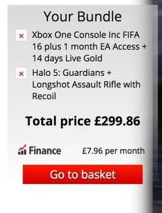 Xbox One Console & FIFA 16, Halo 5: Guardians + Longshot Assault Rifle DLC & 1 Month EA Access £299.86 Delivered @ Shopto