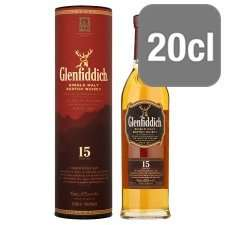 12 and 15 y.o.200ml  bottles of Glenfiddich for £6.00 and £7.10 respectively @ Tesco instore