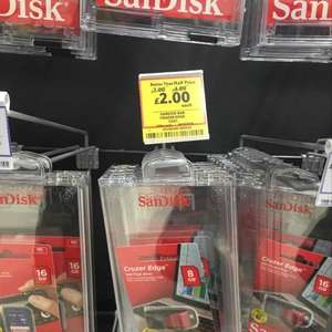Sandisk Cruzer Edge 8gb usb 2.0 flash drive £2.00 @ Tesco Kingsway Dundee