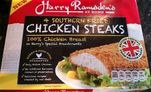 Harry Ramsden's 4 Southern Chicken Steaks in was £2 now 75p @ Tesco