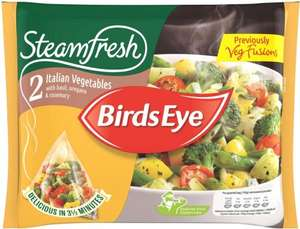 Birds Eye Steamfresh Green Medley with Garlic & Herbs (2 per pack - 300g) was £2.00 now any 2 for £2.00 @ Ocado