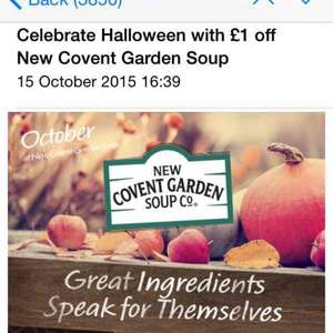 £1 off Covent Garden soup FREE at Morrisons!