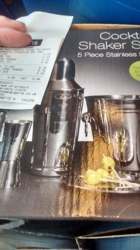 cocktail shaker set £4.99 @ home bargains