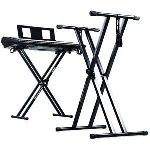Duronic KS2B Height Adjustable Twin X Frame Keyboard Stand, with Quick Pull Release Mechanism – Black  £21.99 Free Delivery at Amazon UK