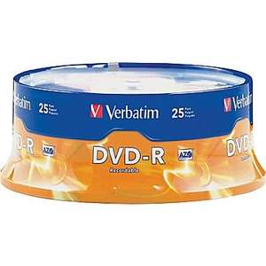 Verbatim 4.7 GB 16x DVD-R Spindle 25 Pack £4.50 Matt Silver or 50 pack for £6.50 @ Tesco Direct