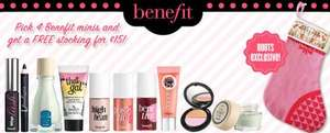 Get Four Benefit Minis & FREE Benefit Christmas Stocking for £15 @ Boots.com