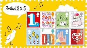 Smilers 2015 - 1st Class Stamps x 12 - £7.56 @ PostOfficeShop
