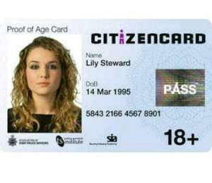 Citizen Card Deal - Discount - only £1.00 save £14.00