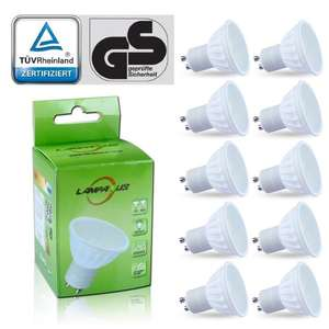 Dimmable 5W LED GU10 spotlights - Pack of 10 - £25.99 delivered Sold by Lampaous and Fulfilled by Amazon