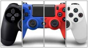 DualShock 4 Controller (Magma Red / Wave Blue / Black / White) - £34.85 - Shopto (Amazon Price Matched)
