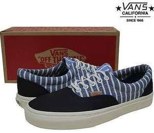Vans ERA CA Stripes Blue Now £23.98 delivered using code @ MandM Direct