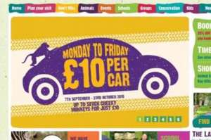 Knowsley safari park. Monday to Friday's £10 per car. LAST WEEK.