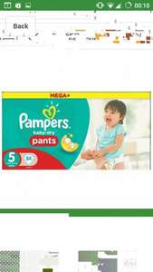 pampers  mega plus baby dry pants size 5 pack of 84 £6.95 with Subscribe & Save @ amazon