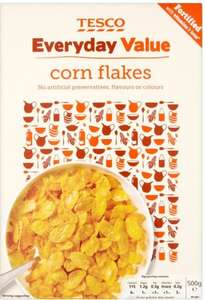 Tesco Everyday Value Cornflakes 500G JUST 25p!