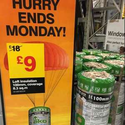 eko roll insulation £9 @ B&Q