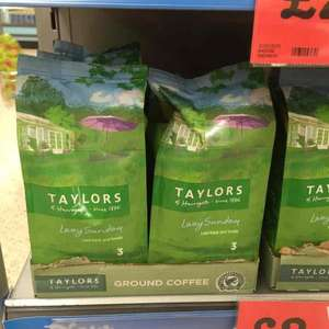 Taylors of Harrogate ground coffee reduced from £3.49 to £2 at Morrisons