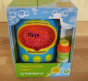 Sainsburys large bubble machine reduced from £15 to £1.50