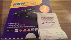 NEW BLACK NOW TV box with 2 months Sky Movies only £20 at Morrisons