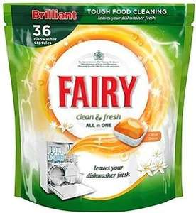 Fairy Dishwasher Tablets 36 pack £1.99 @ B&M