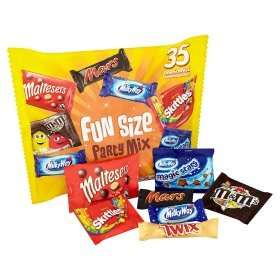 Mars Fun Size Party Mix (35 per pack - 600g) was £6.50 then £3.00 now 2 for £5.00 @ Asda