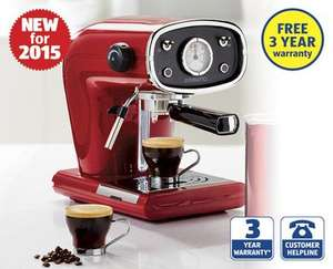 Ambiano Retro Espresso Coffee Machine (Thurs 22nd Oct) £59.99 @ ALDI