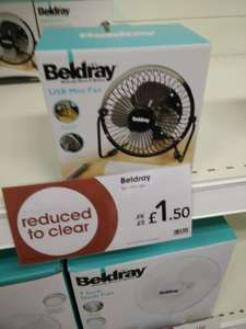 USB Mini Desk Fan £1.50 @ Wilko Instore