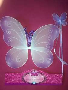 Butterfly Fairy Wings & Wand Set for £1.00 @ B&M