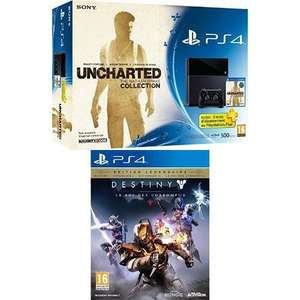 PS4 500GB Console (New Model) Uncharted Collection + Destiny The Taken King + Three Months PS Plus  £299 @ Amazon.fr
