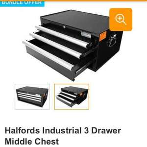 halfords industrial 3 drawer middle box was £200 now £100.... £90 with promo code!
