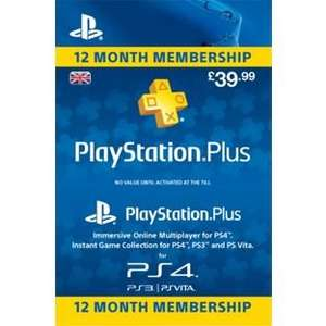 Playstation Plus Membership - 12 Months £34.99 @ Argos