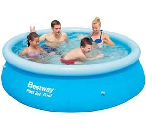 Bestway 8ft Fast Set Quick Up Pool reduced even further now £8 Tesco Direct Free CnC