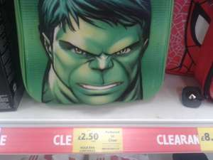 Incredible Hulk/ Spider-Man Lunch Bag £2.50 @ Tesco Instore